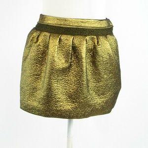 Metallic gold DIANE VON FURSTENBERG mini skirt 0